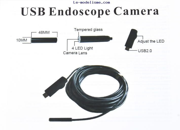 Endoscope 2m usb - Camera endoscopique usb ...